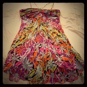 Strappy multi color dress